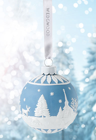 Wedgwood Winter Country Blue Ornament