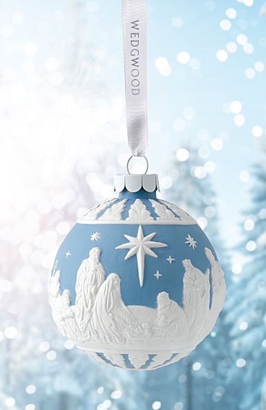 Wedgwood Nativity Blue Ornament