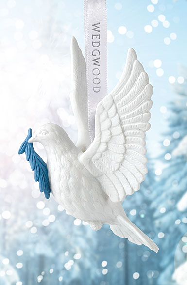 Wedgwood 2018 Figural Dove Ornament