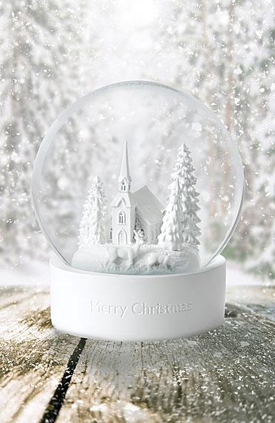 Wedgwood White Snow Globe