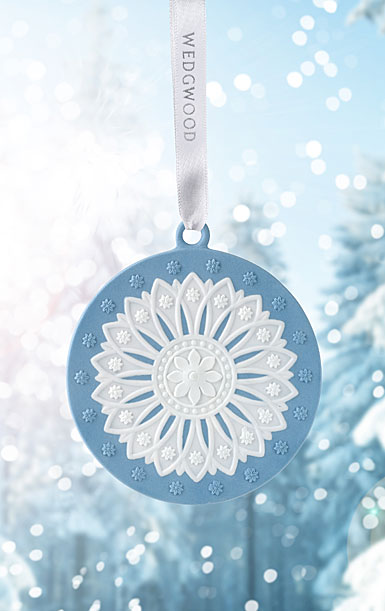 Wedgwood Neoclassical Disc Blue Ornament