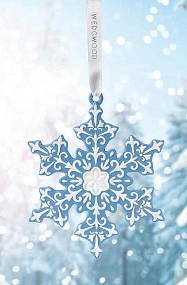 Wedgwood 2017 Snowflake Blue Ornament