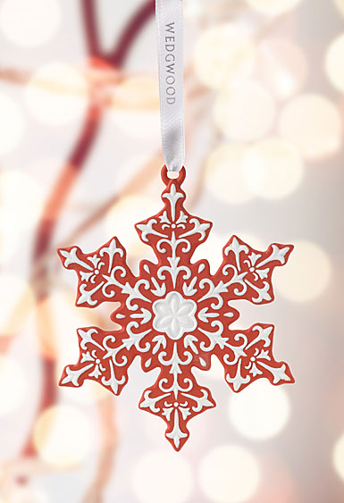 Wedgwood Snowflake Red Ornament