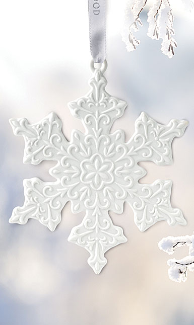 Wedgwood 2019 White Snowflake Ornament