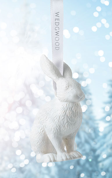 Wedgwood Figural Hare White Ornament