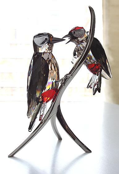 Swarovski Woodpeckers, Black Diamond