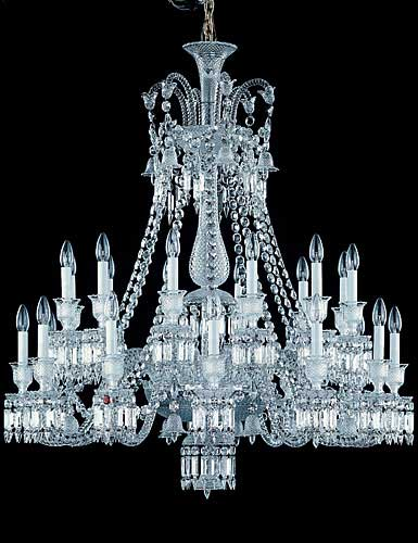 Baccarat Crystal, Zenith Crystal Chandelier, 24 Light