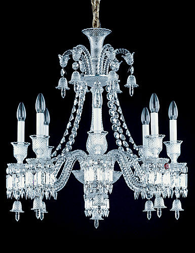 ... Baccarat Crystal Zenith Crystal Chandelier 8 Light & Baccarat Zenith Chandelier 8 Light