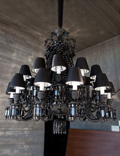 Baccarat zenith onyx chandelier 24 light baccarat crystal zenith black 24 light crystal chandelier aloadofball