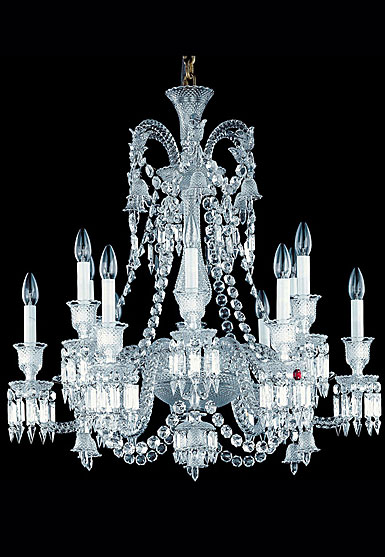 Baccarat Crystal, Zenith Long Crystal Chandelier, 12 Light