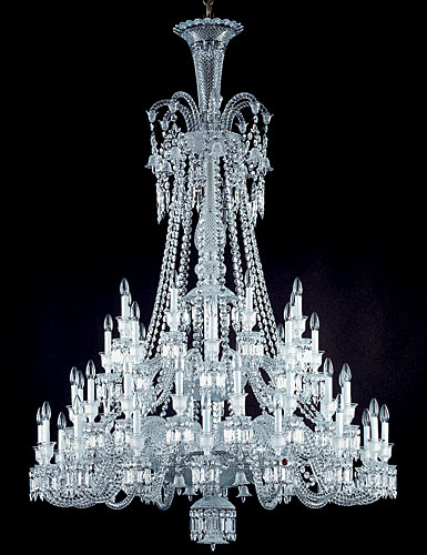 ... Baccarat Crystal Zenith Long Crystal Chandelier 48 Light : baccarat lighting - www.canuckmediamonitor.org